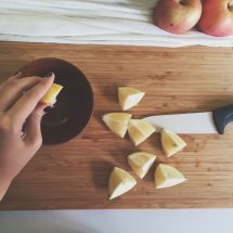 蘋果去皮切粒